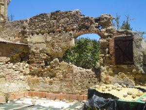 Luia, rovine di una casa distrutta dalle mine tedesche nel luglio 1944