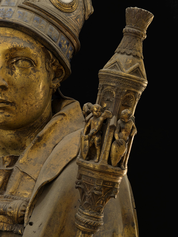 Donatello, San Ludovico di Tolosa (particolare)